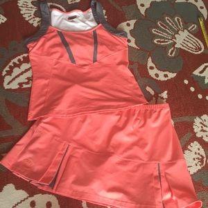 Super cute bolle tennis skirt set